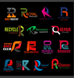 Creative color abstract corporate identity r icons vector