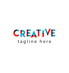 Creative logo letter template design vector