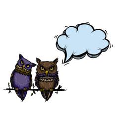 Cute owls-100 vector