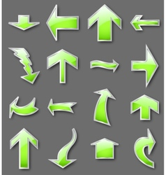 Different green arrows vector image