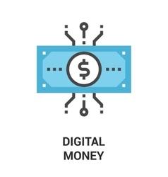 digital money icon concept vector image