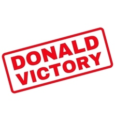 Donald Victory Rubber Stamp vector image