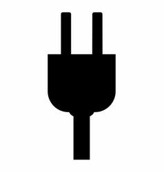 electric plug dark silhouette vector image