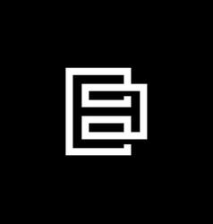 elegant modern black and white color letter b vector image