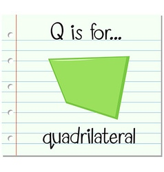 Flashcard letter q is for quadrilateral vector