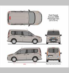 Ford transit connect swb passenger van 2013-2018 vector