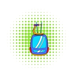 Funicular icon comics style vector image