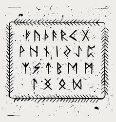 futhark runic alphabet vector image