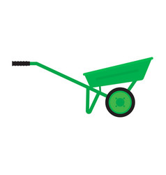 Garden wheelbarrow isolated on white background vector