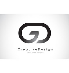 Gd g d letter logo design creative icon modern vector