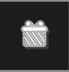 Gift box icon - present icon - holiday vector