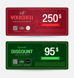 Gift voucher or gift coupon template for award vector