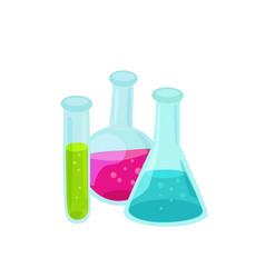 glass beaker isolated vector image