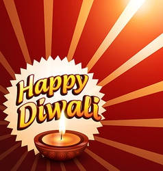 Glowing happy diwali background vector