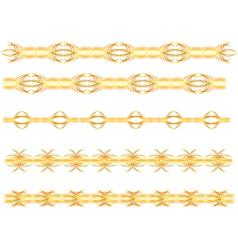 gold seamless border vector image