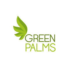 green palms symbol vector image