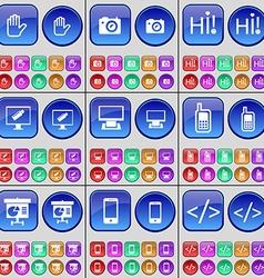 Hand Camera Hi Monitor Mobile phone Diagram vector
