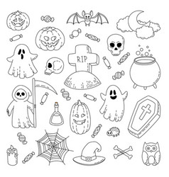 happy halloween background wallpaper template vector image