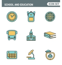 Icons Line set of premium quality elementary vector image