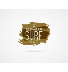 International surfing day graphic elements vector image