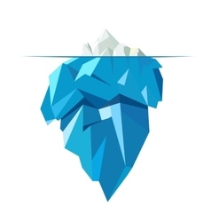 Isolated full big iceberg flat style vector image