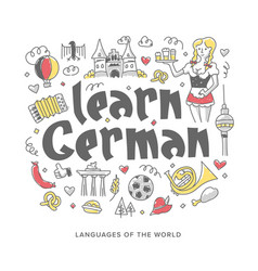 learn german concept vector image