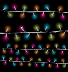 Lights for the new year vector image