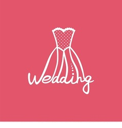 logo wedding dress vector image vector image