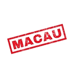 Macau Rubber Stamp vector
