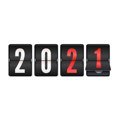 new year scoreboard 2021 is coming retro vector image