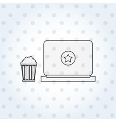 online cinema design vector image