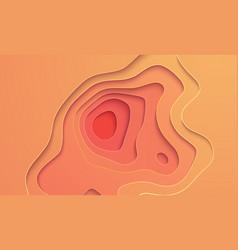 paper cut yellow design vector image