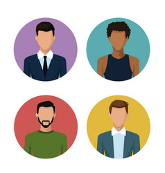 people round icons vector image