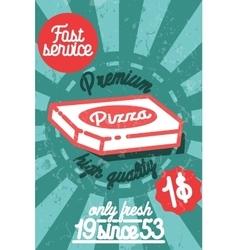 Pizza banner Vintage fast food background vector image
