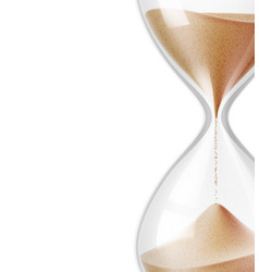 realistic hourglass sandglass 3d mock up vector image