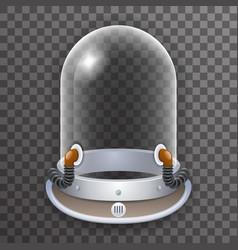 Retro realistic helmet 3d cosmonaut astronaut vector