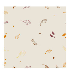 seamless pattern in autumn style with leaves vector image