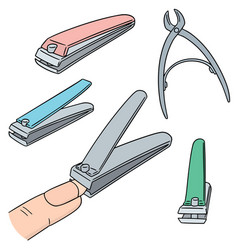 Set of nail clipper vector