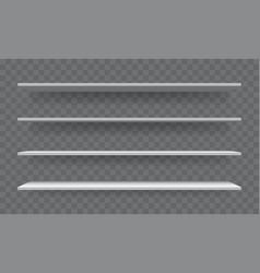shelf white empty 3d realistic bookshelf vector image