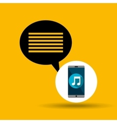 Smartphone music online message vector