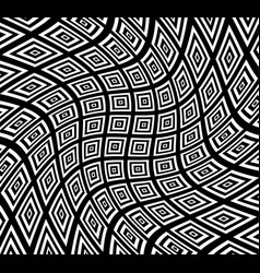 Square pattern with swirling distortion effect vector