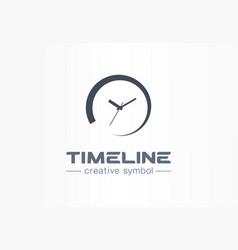 timeline creative symbol concept time start vector image