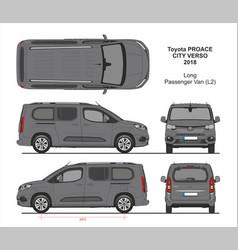 Toyota proace city verso van l2 2018-present vector