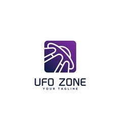 Ufo zone logo vector