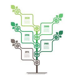 vertical infographics or timeline with 5 options vector image