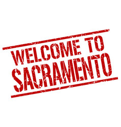 Welcome to sacramento stamp vector