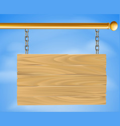 wooden hanging sign vector image
