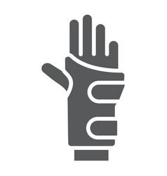 wrist brace glyph icon orthopedic and medical vector image