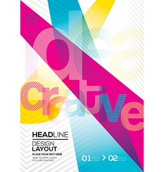 cmyk Abstract design layout background vector image