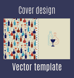 cover design with silhouette bar drinks vector image vector image